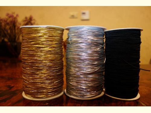 鬆緊繩(黑、咖啡、金、銀色、白)